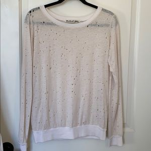 Michael Stars long sleeve tee with holes